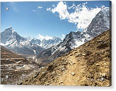 The Path To Cho La Pass In Nepal Acrylic Print