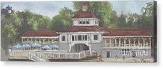 The Pavilion At Lakeside Ohio Acrylic Print by Terri  Meyer