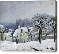 The Place Du Chenil At Marly Le Roi Acrylic Print by Alfred Sisley
