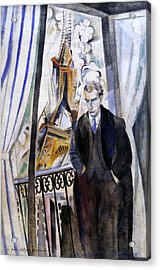 The Poet Philippe Soupault Acrylic Print by Robert Delaunay