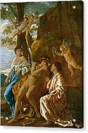 The Poet's Inspiration Acrylic Print by Nicolas Poussin