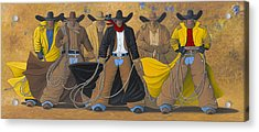 The Posse Acrylic Print by Lance Headlee
