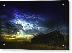 The Power Of A Storm In Formation Acrylic Print by  Fli Art