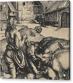 The Prodigal Son Acrylic Print by Albrecht Durer or Duerer