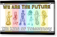 Acrylic Print featuring the drawing The Proud Kids Of Tomorrow 3 by Shawn Dall