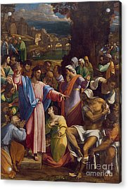 The Raising Of Lazarus Acrylic Print