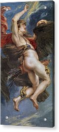 The Rape Of Ganymede Acrylic Print by Peter Paul Rubens
