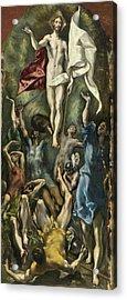 The Resurrection Acrylic Print by El Greco