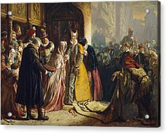 The Return Of Mary Queen Of Scots To Edinburgh Acrylic Print by James Drummond
