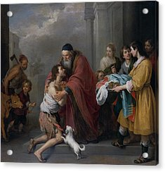 The Return Of The Prodigal Son Acrylic Print by Bartolome Esteban Murillo