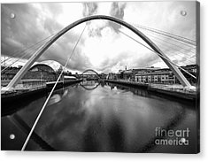 The River Tyne Acrylic Print by Nichola Denny