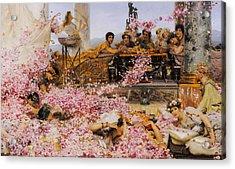 The Roses Of Heliogabalus Acrylic Print by Lawrence Alma-Tadema