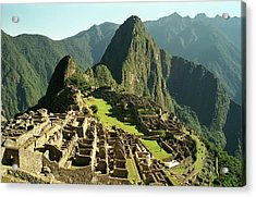 The Ruins Of Machu Picchu, Peru, Latin America Acrylic Print