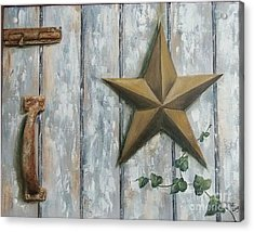 The Rusty Latch Acrylic Print by Patricia Lang