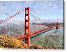 The San Francisco Golden Gate Bridge . 7d14507 Acrylic Print by Wingsdomain Art and Photography