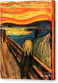 The Scream Acrylic Print by Pg Reproductions