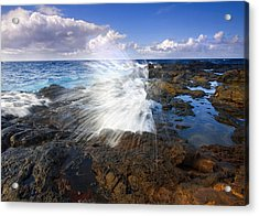 The Sea Erupts Acrylic Print by Mike  Dawson