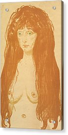 The Sin Acrylic Print by Edvard Munch