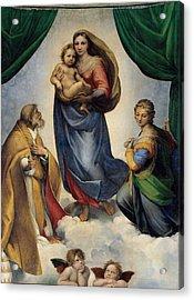 The Sistine Madonna Acrylic Print