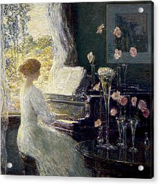 The Sonata Acrylic Print by Childe Hassam
