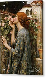 The Soul Of The Rose, 1908 Acrylic Print by John William Waterhouse