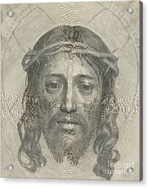 The Sudarium Of Saint Veronica Acrylic Print by Claude Mellan