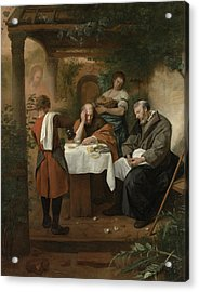 The Supper At Emmaus Acrylic Print by Jan Steen