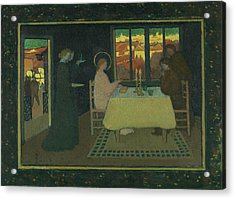 The Supper At Emmaus Acrylic Print by Maurice Denis