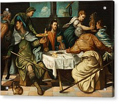 The Supper At Emmaus Acrylic Print by Tintoretto