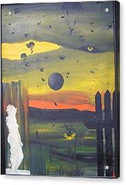 The Survivor Acrylic Print by Zsuzsa Sedah Mathe