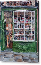 The Sweet Shop Acrylic Print by Victoria Heryet