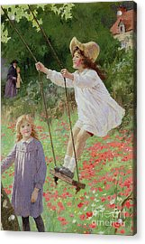 The Swing Acrylic Print by Percy Tarrant