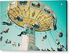 The Swings Acrylic Print by Kim Fearheiley