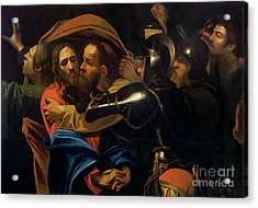 The Taking Of Christ Acrylic Print by Michelangelo Caravaggio