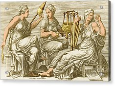 The Three Fates Acrylic Print by Photo Researchers