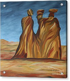 The Three Gossips Acrylic Print by Christiane Schulze Art And Photography