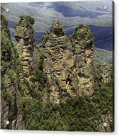 Acrylic Print featuring the photograph The Three Sisters by Chris Cousins