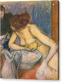 The Toilet Acrylic Print by Edgar Degas