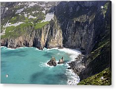 The Turquoise Water At Slieve League Sea Cliffs Donegal Ireland  Acrylic Print by Pierre Leclerc Photography