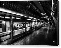 The Underground System Acrylic Print by David Pyatt