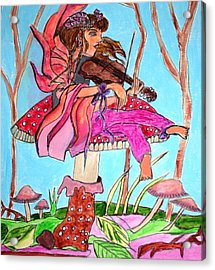 The Violinist Fairy Acrylic Print