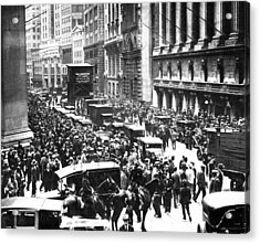 The Wall Street Crash 1929 Acrylic Print