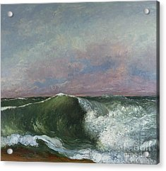The Wave Acrylic Print by Gustave Courbet