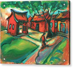 Acrylic Print featuring the painting The Way by Yen