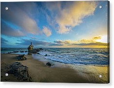 Acrylic Print featuring the photograph The Woman And Sea by Sean Foster