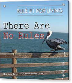 There Are No Rules Acrylic Print