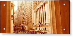 This Is A Sepiatone View Looking Acrylic Print by Panoramic Images