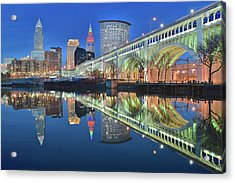 This Is Cleveland Acrylic Print by Frozen in Time Fine Art Photography