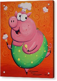 This Little Piggy Baked Cupcakes Acrylic Print by Jennifer Alvarez