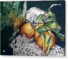 Three Oranges Acrylic Print by Aleksandra Buha